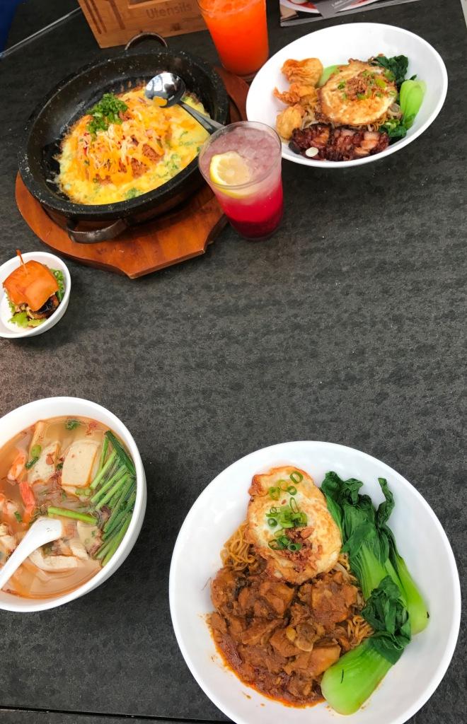 Food Terminal Malaysian Family Traditions Modern Market Setting